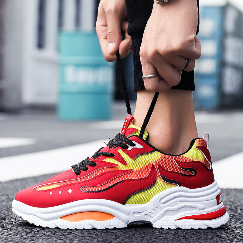 Fashion Mens Running Breathable Shoes Sports Casual Walking Athletic Sneakers