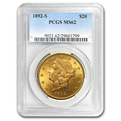 1892-S $20 Liberty Gold Double Eagle MS-62 PCGS - SKU#1527