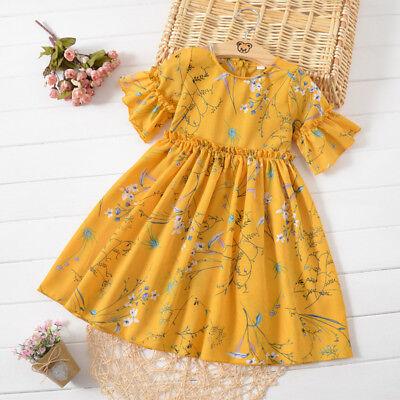 kids Girls Chiffon Dress Korean Printing Flower Fairy Pageant Tutu Dresses](Fairy Flower Dress)