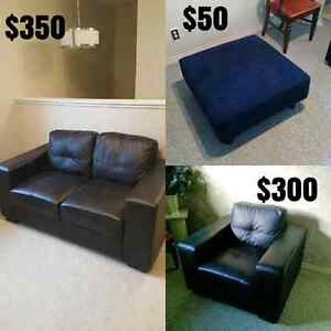 Love seat,  ottoman and chair  Strathcona County Edmonton Area image 1