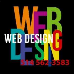 CONCEPTION SITE WEB - WEBSITE DESIGN - HÉBERGEMENT 1 AN GRATUIT. - 489-