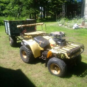 86 Yamaha Moto4, 2x4 With Trailer