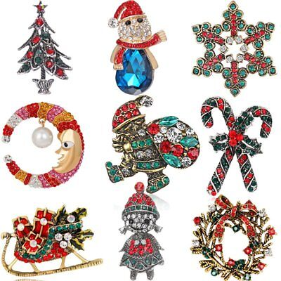 Wholesale Christmas Costumes (Wholesale Father Christmas costume Brooch Pin Jewelry Women Tree Xams Gift)