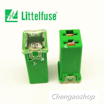 1PCS NEW Littelfuse 0495040 JCase Cartridge Fuse 40 Amp, Green housing #QW37 ZX Littelfuse Cartridge Fuse