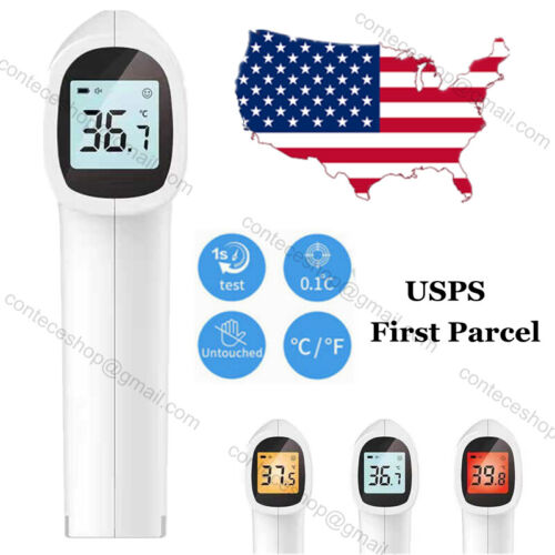 USA Shipping Infrared Thermometer Non contact lcd human temperature Meter