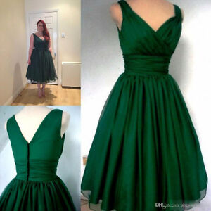 20W Vintage style Emerald green cocktail dress London Ontario image 1