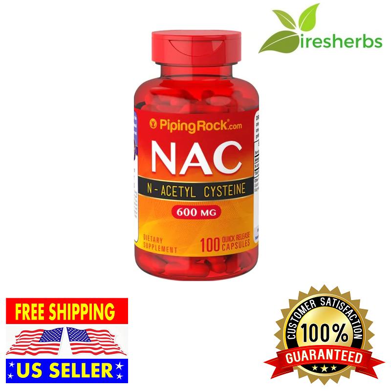NAC N-Acetyl L Cysteine 600 mg 100 Capsules ANTI OXIDANT