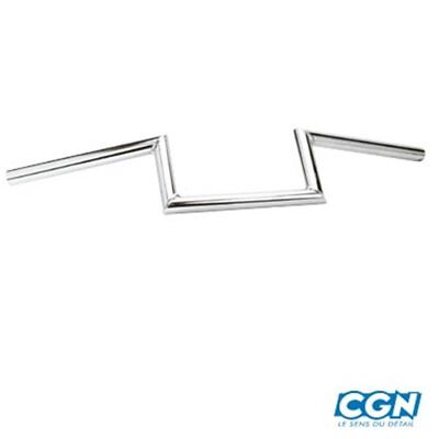 GUIDON CYCLO MOBYLETTE Z.BARRE LISSE CHROME