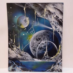 PAINTINGS OF PLANETS INCLUDING FRAMES - 3 PCS @ 75.00 EA. - MINT
