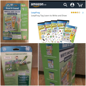 Brand new. Leap tag Write and draw activity set