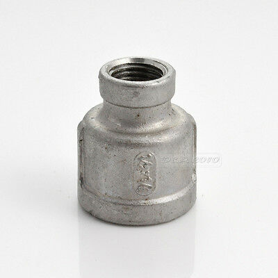 Nipple 12 X 14 Female Stainless Steel 304 Threaded Reducer Pipe Fitting Npt