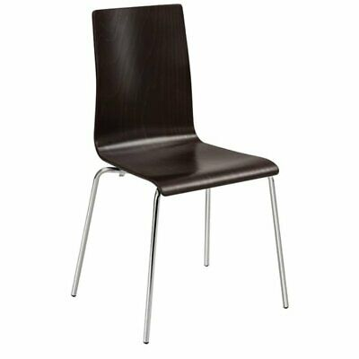 Safco Bosk Stacking Chair in Espresso