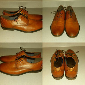 Aldo brown leather shoes (size 13 mens)