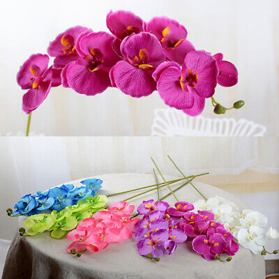 Phalaenopsis Orchid Bridal Bouquets - Artificial Butterfly Orchid Silk Flower Bouquet Phalaenopsis Home Decor Wedding