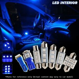 7pcs interior car led lights kit for 2001 2005 honda civic coupe sedan blue ebay. Black Bedroom Furniture Sets. Home Design Ideas