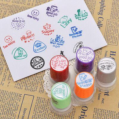Teacher Round Self Inking Stamp Homework Reward Education Reward Education Gifts