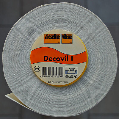 Meterware Decovil I beige aufbügelbares Freudenberg 90cm breit Vlieseline