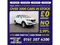 Kia Sportage Crdi 1 Estate 1.7 Manual Diesel LOW RATE CAR FINANCE AVAILABLE