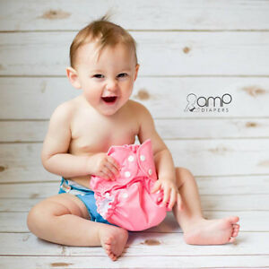 Super Cute & Fashionable AMP Complete Cloth Diaper Kit!