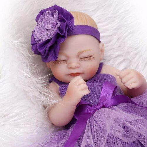 "11"" Realistic Reborn Baby Dolls Newborn Full Vinyl Silicone Girl Doll Handmade"