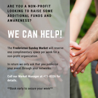 Fredericton Sunday Market supports local non-profits -free space
