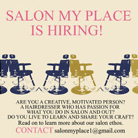 Looking for a hairstylist for small, Westboro salon