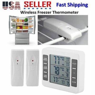 Wireless Digital Refrigerator Freezer Thermometer Danger- High Low Temperature US