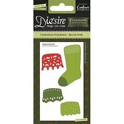 CLEARANCE - Die'sire Metal Die - Christmas Stocking by Crafters Companion