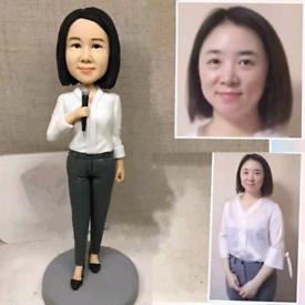 Custom Handmade Your 3D Minime Art Doll speech lady