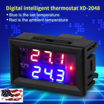 Digital Display Microcomputer Thermostat Temperature Controller Switch W Sensor