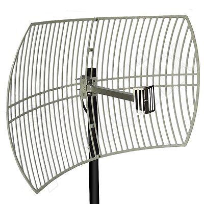 Altelix 2.4 GHz WiFi 24dB Grid Antenna Long Range High Gain Outdoor Directional