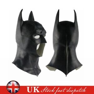 Full Mask Cowl Adult Batman The Dark Knight Rises Cosplay Prop Fancy Halloween