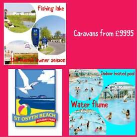 Static caravans for sale with 3YEARS FREE SITE FEES St Osyth Beach Clacton Essex