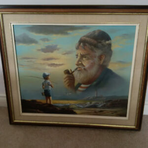 Old man and the sea painting