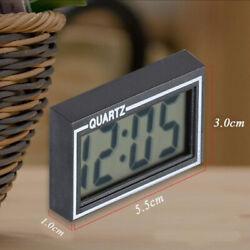 Digital LCD Clock Table Auto Car Dashboard Desk Date Time Calendar Display Clock