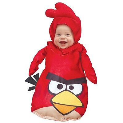 Kostüm~USA~56-62-68~Angry Bird~Fasching~Karneval~Babykostüm~0-9 Mon~Overall~rot ()