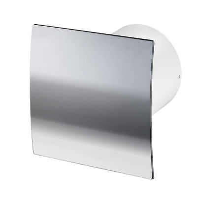 Polished Chrome Bathroom Extractor Fan 100mm / 4