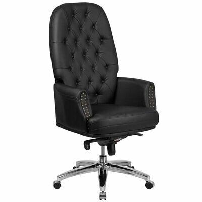 Scranton Co Leather High Back Swivel Executive Chair In Black