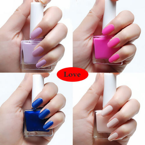 Cotton Candy Satin Fingernail Polish: 12ML Candy Color Matte Satin Finish Nail Polish