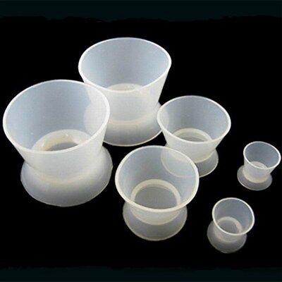 6pcs Flexible Dental Lab Silicone Mixing Bowl Cup Dappen Dish 2s 2m 2l Us Stock