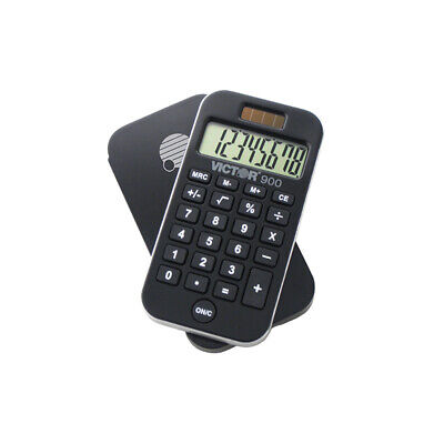 VICTOR TECHNOLOGY POCKET CALCULATOR W/ ANTIMICROBIAL 900