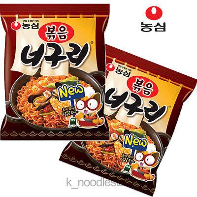 [Nongshim] Stir-Fried Neoguri Ramyun Seafood Korean Food Noodle 137 g × 2 ea