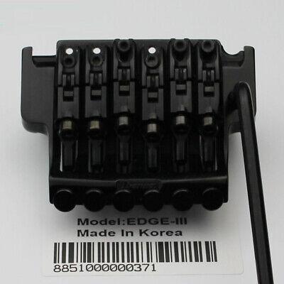 Geniue Ibanez Edge III Locking Guitar Tremolo System Bridge Black From Korea Ibanez Tremolo System