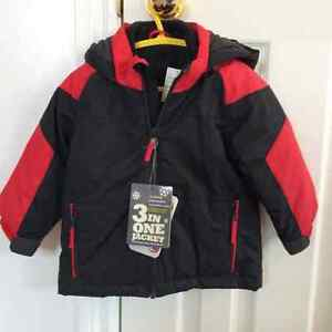 3in1 18-24months 27-30 lbs  red/black jacket Brand new with tags