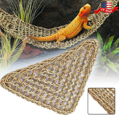 Reptile Hammock Lizard Lounger Bearded Dragon Tank Decor Accessories Hanging Net