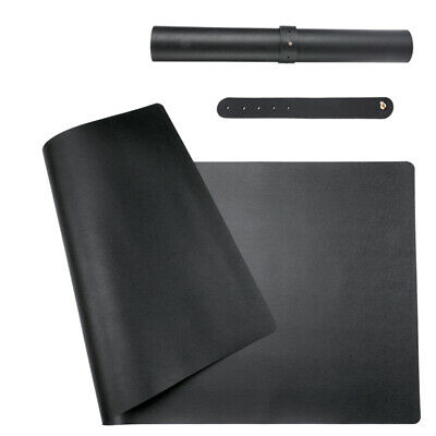 Waterproof Desk Pad 31.5 X 15.7 Large Rectangular Leather Laptop Desk Mat Black