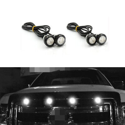 4pc LED White Grille Lighting Kit, Universal Fit Truck SUV Ford SVT Raptor Style