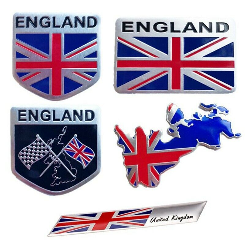 Metal 3D British Flag Union Jack Shield Emblem Badge Car Decorative Sticker/_Cra