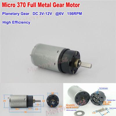 Dc 3v-12v 5v 6v 156rpm Micro 370 Planetary Metal Gear Motor Gearbox Large Torque