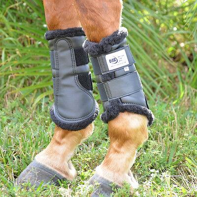 DSB Original Dressage Sport Boots - XLarge Pair - Black with Black Fleece Lining
